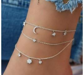 """Kojos papuošalas """"Multi pendants silver"""""""