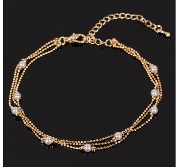 """Kojos papuošalas """"Pearl pendant chain"""""""