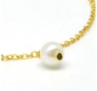 "Kojos papuošalas ""Golden Pearl Anklet"""