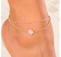 "Kojos papuošalas ""Opal anklet"""