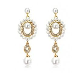 """Auskarai """"Golden pearl"""""""