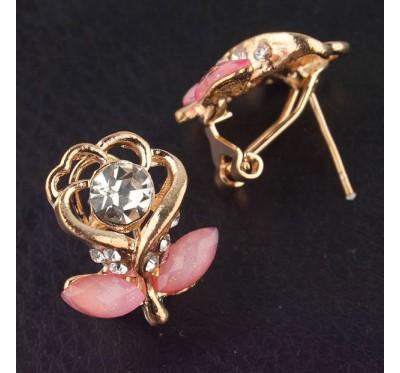 """Auskarai """"Pink Sapphire"""""""