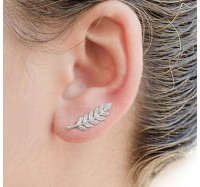 "Auskarai ""Ear leaf"""