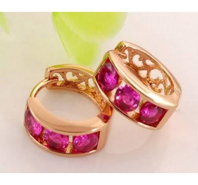 """Auskarai """"Rose red earrings"""""""