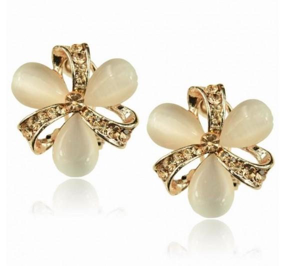 "Auskarai ""Floral Opal Eardrop"""