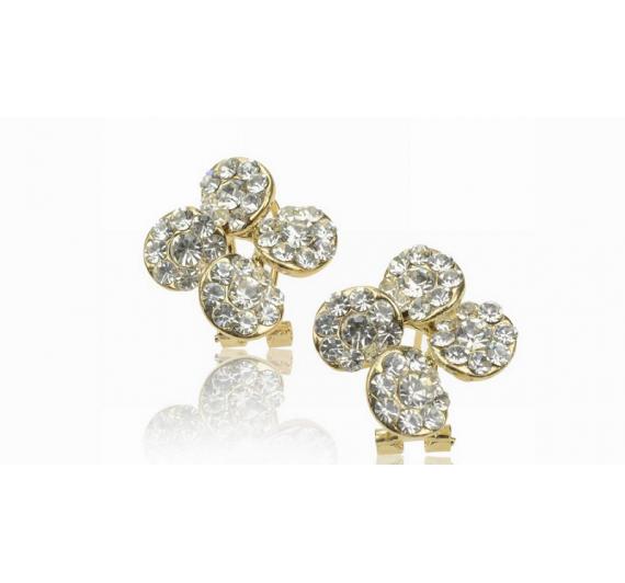 "Auskarai ""Diamante flower"""