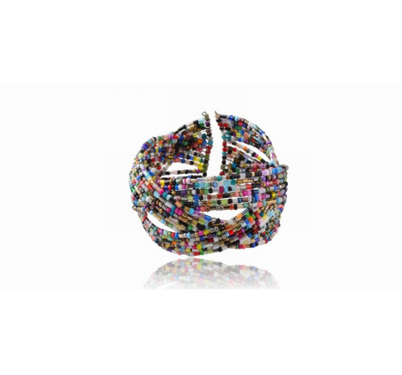 "Apyrankė ""Colorfull Glass cuff"""