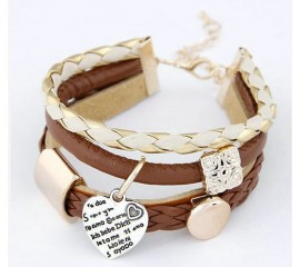 "Apyrankė ""Stylish leather bracelet"""