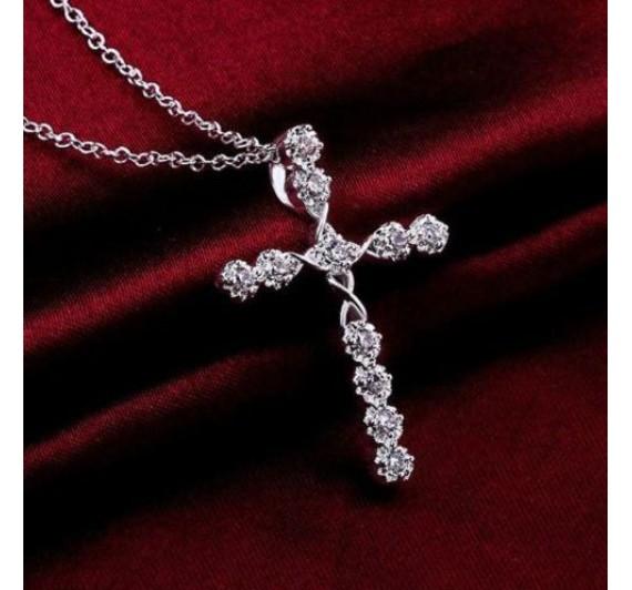 """Kaklo papuošalas """"Silver cross"""""""