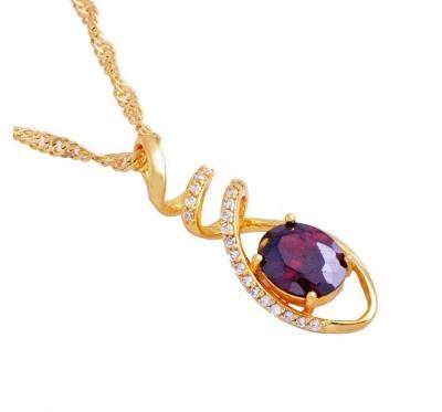 """Kaklo papuošalas """"Ruby necklace"""""""