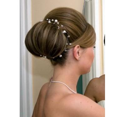 """Vestuvinis plaukų aksesuaras """"Pearl Tiara"""""""