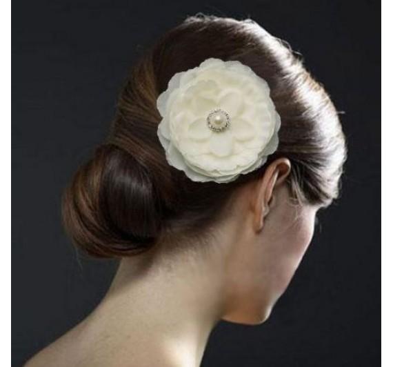 """Vestuvinis plaukų aksesuaras """"White Rose"""""""