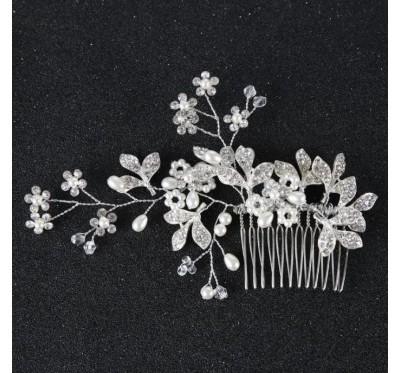 """Nuotakos plaukų aksesuaras """"Silver flower"""""""