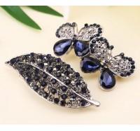 """Plaukų sagė """"Blue leaf"""""""