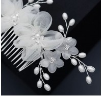 """Vestuvinė plaukų sagė ir smeigtukai """"Silk flower set"""""""