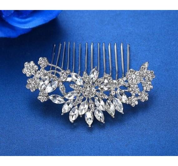 "Vestuvinė plaukų sagė ""Full flower crystal"""