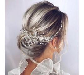 """Nuotakos plaukų aksesuaras """"Luxury crystal comb"""""""