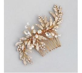 """Nuotakos plaukų aksesuaras """"Luxyry crystal leaf"""""""