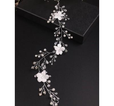 """Nuotakos plaukų aksesuaras """"Silk flower tiara"""""""