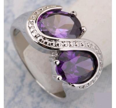 """Žiedas """"Purple oval"""""""